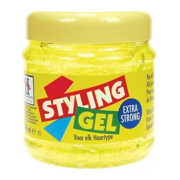 Hegron Styling Żel do modelowania włosów extra strong żółty - TENEX 500ml