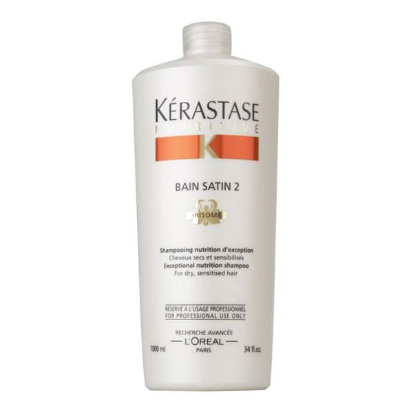 Kerastase Nutritive Bain Satin 2 kąpiel odżywcza do włosów suchych lub uwrażliwionych 1000ml