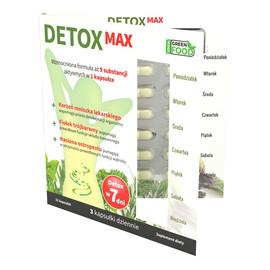 Detox Max suplement diety wspomagający detoksykację organizmu i prawidłowe funkcjonowanie układu trawiennego 21 kapsułek