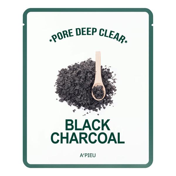 A'pieu Pore Deep Clear Oczyszczająca Maseczka Do Twarzy w płachcie Black Charcoal 15g