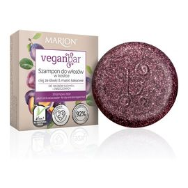 Veganbar szampon do włosów suchych i zniszczonych w kostce olej ze śliwki & masło kakaowe