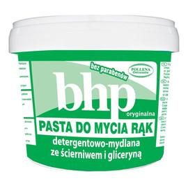 Pasta do mycia rąk detergentowa-mydlana ze ścierniwem i gliceryną