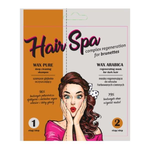 Pilomax Wax Hair Spa zestaw MASKA ARABICA 25ml +SZAMPON 10ML