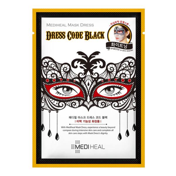 Mediheal Dress Code Black MASKA KARNAWAŁOWA WYGŁADZAJĄCO-NAWILŻAJĄCA 27ml
