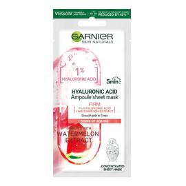 Acis Ampoule Sheet Mask Ampułka ujędrniająca w masce na tkaninie z kwasem hialuronowym i ekstraktem z arbuza