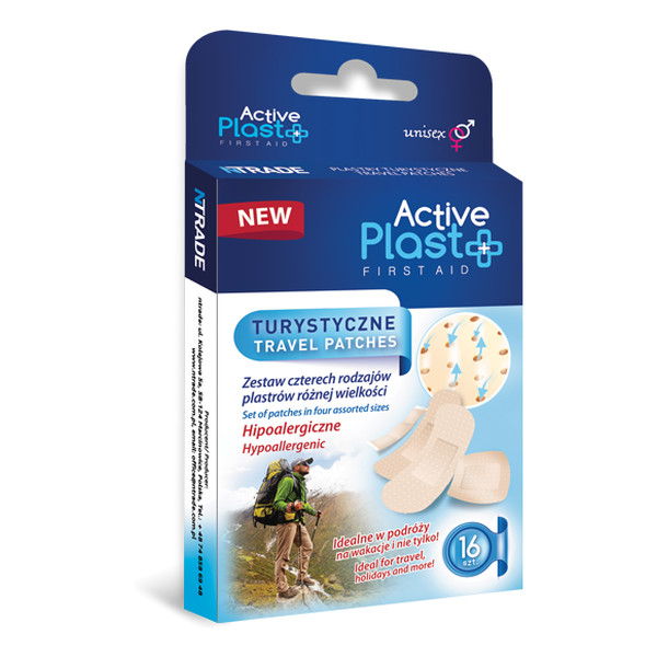 Active Plast First Aid Plastry Opatrunkowe Turystyczne
