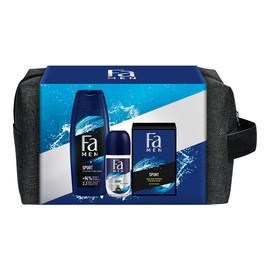 Zestaw żel pod prysznic 250ml + antyperspirant w kulce 50ml + woda po goleniu 100ml + kosmetyczka
