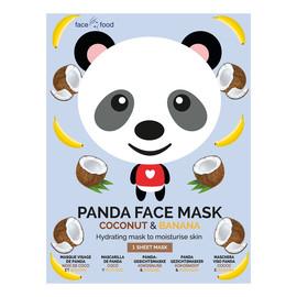 Panda Face Mask nawilżająca maseczka w płachcie Banana & Coconut