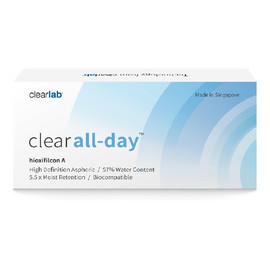 Clear all-day miesięczne soczewki kontaktowe-3.00 3szt