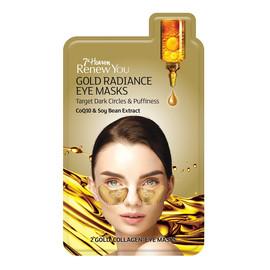 Gold Radiance Eye Masks płatki pod oczy niwelujące cienie i obrzęki CoQ10 & Soy Bean Extract
