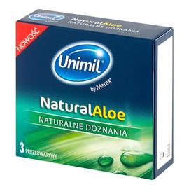 Natural aloe lateksowe prezerwatywy 3szt