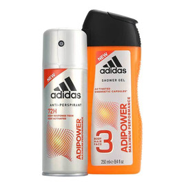ADIPOWER MAXIMUM PERFORMANCE Zestaw antyperspirant spray 150ml + żel pod prysznic
