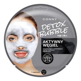 Detox Bubble Mask czyszczająco-rozświetlająca czarna maseczka bąbelkująca do twarzy Aktywny Węgiel 1szt