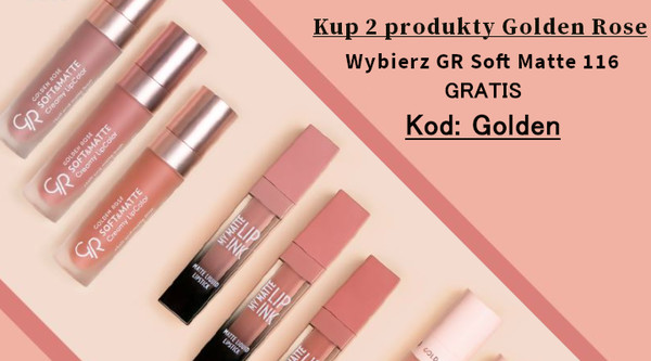 2 x Golden Rose | kod: Golden | Pomadka 116