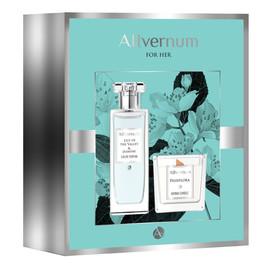 Zestaw prezentowy Allvernum Lilly & Jasmine - woda perfumowana 50ml i świeca Passiflora