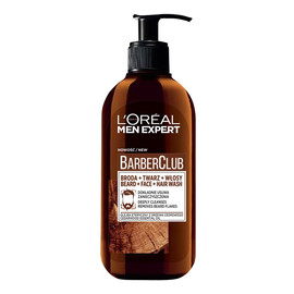 Barber Club 3in1 oczyszczający żel do mycia brody twarzy i włosów