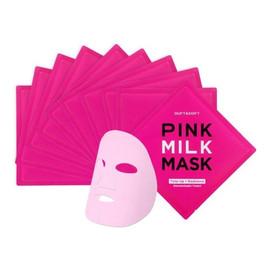 różowa maska mleczna w płachcie 10x27ml