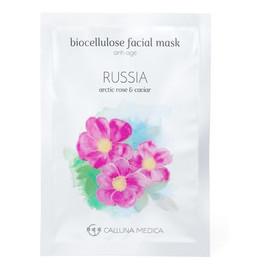 Russia Anti-Age Biocellulose Facial Mask przeciwstarzeniowa maseczka z biocelulozy Arctic Rose & Caviar