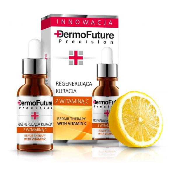 DermoFuture Odmładzanie I Regeneracja Skóry Intensywnie Regenerująca Kuracja Z Witaminą C 20ml