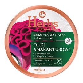 Keratynowa Maska do włosów normalnych i suchych - Olej Amarantusowy
