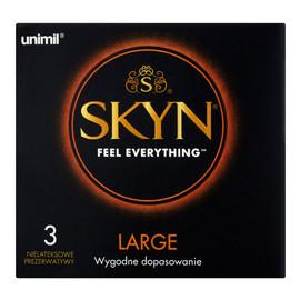 Large Nielateksowe prezerwatywy 3szt