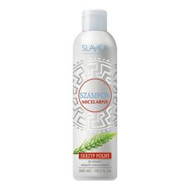 Szary micelarny szampon do włosów skrzyp