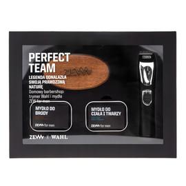 Zestaw trymer wahl lithium ion + mydło do brody 85ml + mydło do twarzy i ciała 85ml + szczotka do brody