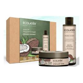 Zestaw podarunkowy Organic Coconut olejek do kąpieli + krem do ciała