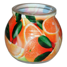 Świeca zapachowa ORANGE szklanka powlekana