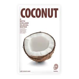 Mask A With Iceland Glacial Water rozświetlająca maseczka w płacie Coconut