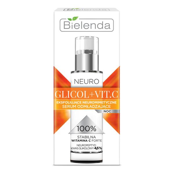 Bielenda Neuro Glicol + Vit.C Eksfoliujące Neuromimetyczne Serum Odmładzające Na Noc 30ml