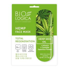 Maska do twarzy w płachcie Absolutna regeneracja z olejem konopnym