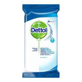Antybakteryjne i drożdżakobójcze chusteczki do mycia i dezynfekcji powierzchni 36szt