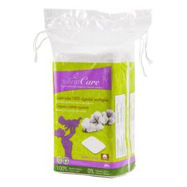 Kwadratowe płatki do demakijażu z 100% organicznej bawełny o podwójnej wielkości 60szt