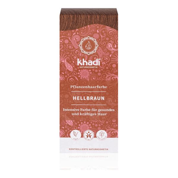 Khadi Naturalna Ziołowa Henna do Włosów Light Brown Jasny Brąz 100g