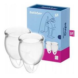 Feel Confident Menstrual Cup zestaw kubeczków menstruacyjnych 15ml + Transparent