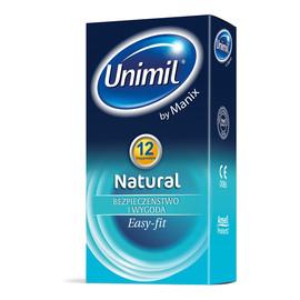 Natural lateksowe prezerwatywy 12szt