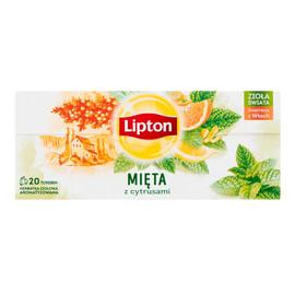 Herbatka ziołowa aromatyzowana mięta z cytrusami 20 torebek