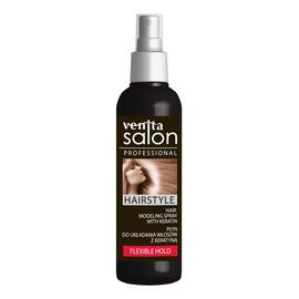 spray do układania włosów z Keratyną