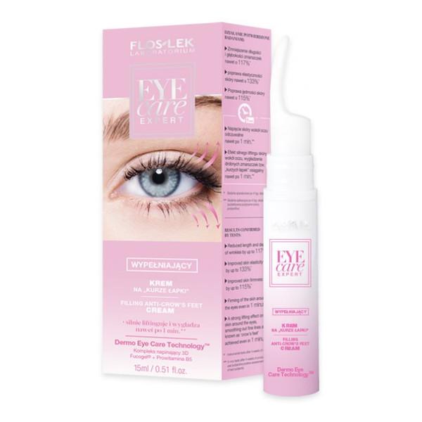 Flos Lek Laboratorium Eye Care Expert Wypełniający Krem Na Kurze Łapki 15ml