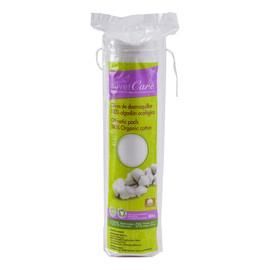 Okrągłe bawełniane płatki kosmetyczne z 100% organicznej bawełny 80 szt