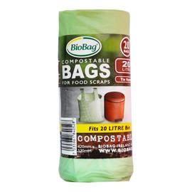 Worki na odpady organiczne i zmieszane, 100% biodegradowalne i kompostowalne,20L rolka 20 szt