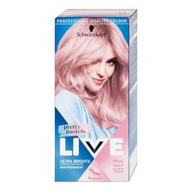 Live ultra brights pretty pastels farba do włosów do 8 myć p123 rose gold
