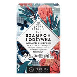 Regenerujący szampon i odżywka w kostce 2w1