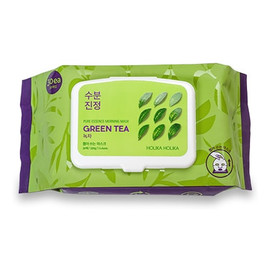 nawilżająco-odświeżające maseczki w płachcie do twarzy Zielona Herbata 30szt