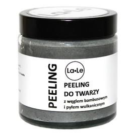 Peeling do twarzy z węglem bambusowym i pyłem wulkanicznym