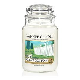 duża świeczka zapachowa Clean Cotton