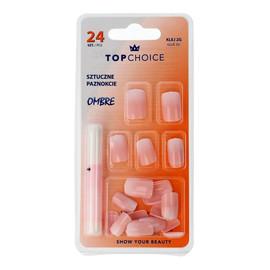 Sztuczne paznokcie z klejem OMBRE (78002) 1op.