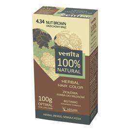 Herbal hair color ziołowa farba do włosów 4.34 orzechowy brąz
