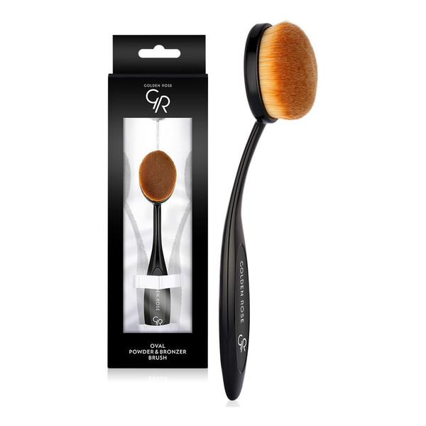 Golden Rose OVAL POWDER & BRONZER BRUSH Owalny pędzel do pudru i bronzera